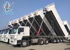 CIMC Semitrailer Rear 50 Ton 4 Axle Dump Semi Trailer Trucks With Front Lifting